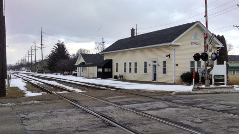The former Chesapeake & Ohio rail station in Plymouth, Michigan, sits on one of the potential routes for the proposed Coast-to-Coast service between Holland and Detroit.