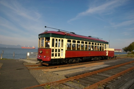 The Astoria Riverfront Trolley in Oregon runs on former freight tracks. (Photo: Flickr user Rich Luhr.)