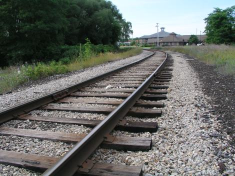 Researchers will study how much it will cost to run passenger trains on these tracks near downtown Traverse City, MI (Photo: MLUI)