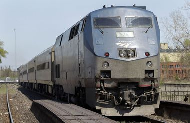 An Amtrak train in Detroit, where this year's run of the Millennial Trains Project will be stopping. Source: Grand Rapids Press