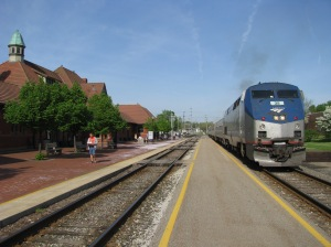 Amtrak's Wolverine at the Kalamazoo Transportation Center