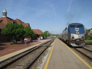Amtrak's Wolverine at the Kalamazoo Transportation Center