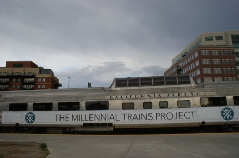 The Milliennial Trains Project stopping in Denver during its 2013 run. Source