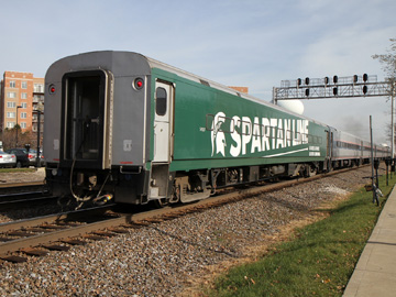 The green and white Spartan car in Chicago provides MSU alumni in Chicago with a lifeline back into Michigan. Source