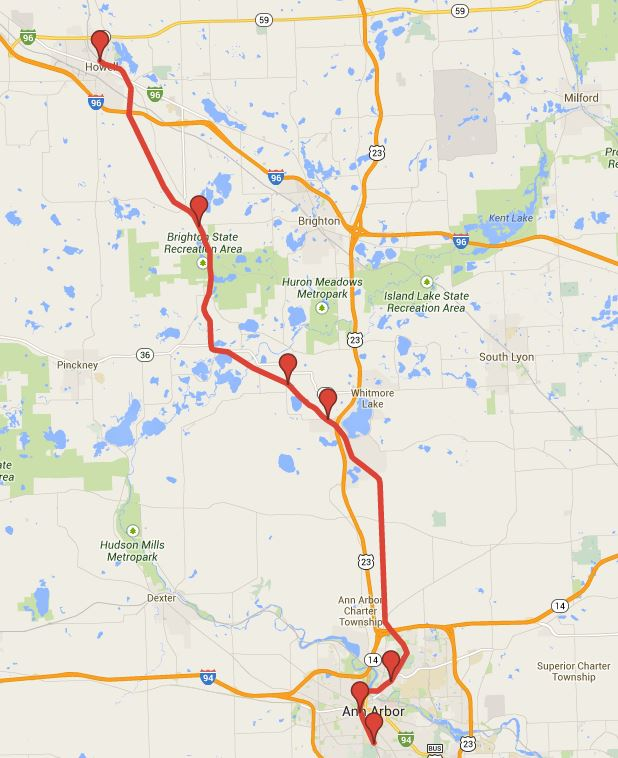 Michigan State Map Google.Where Will Wally Go Michigan By Rail