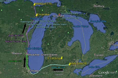 Map AA to Marquette