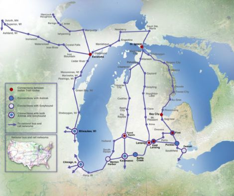 Map Indian Trails Routes