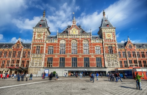 Amsterdam Centraal Train Station.